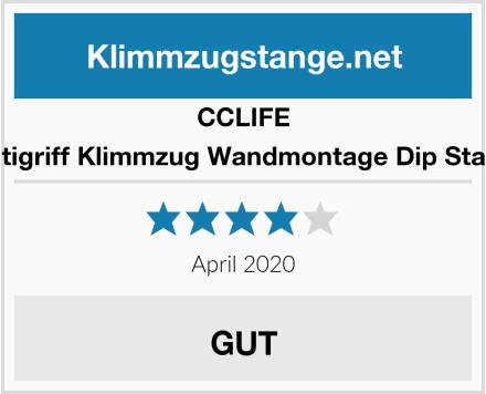 CCLIFE Multigriff Klimmzug Wandmontage Dip Station Test