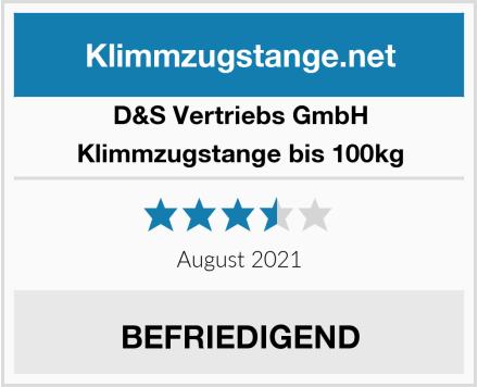 D&S Vertriebs GmbH Klimmzugstange bis 100kg Test