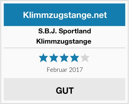 S.B.J. Sportland Klimmzugstange  Test