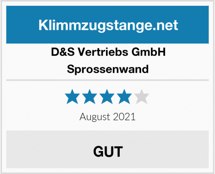 D&S Vertriebs GmbH Sprossenwand Test