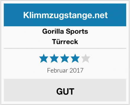 Gorilla Sports Türreck Test